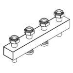 Distribuitor-colector mic 80/60, 125mm, 2 circuite RO