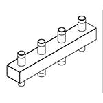 Distribuitor-colector 80/60, 125mm, 2 circuite FE
