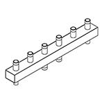 Distribuitor-colector 80/60, 125 mm, 3 circuite FE