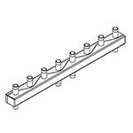 Distribuitor-colector 80/60, 125 mm, 4 circuite FE