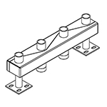 Distribuitor-colector 120/80, 200 mm, 2 circuite FI