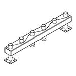 Distribuitor-colector 120/80, 200 mm, 3 circuite FI