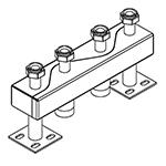 Distribuitor-colector 120/80, 130 mm, 2 circuite RO