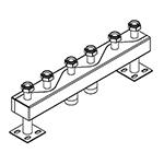 Distribuitor-colector 120/80, 130 mm, 3 circuite RO