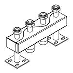 Distribuitor-colector 120/80, 125 mm, 2 circuite RO