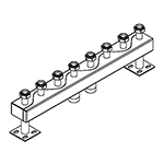 Distribuitor-colector 120/80, 125 mm, 4 circuite RO