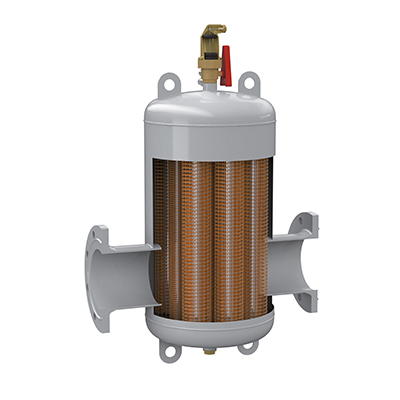 Separator de microbule de aer si gaz Exvoid Otel - sectiune