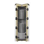 Storatherm_Heat_HF_500/2_C-argintiu - Rezervor tampon pentru stocare agent termic cu 2 serpentine, cu izolatie termica